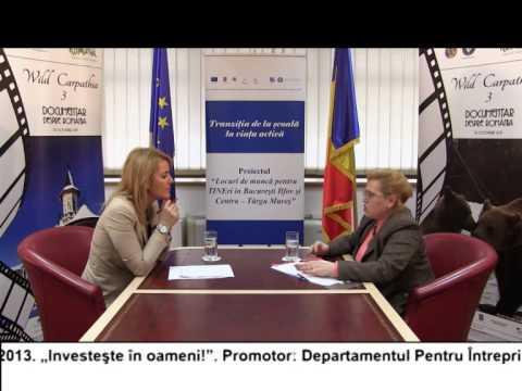 (VIDEO) Locuri de muncă pentru TINEri în București Ilfov și Târgu Mureș – LIDIA BARBU (E31)