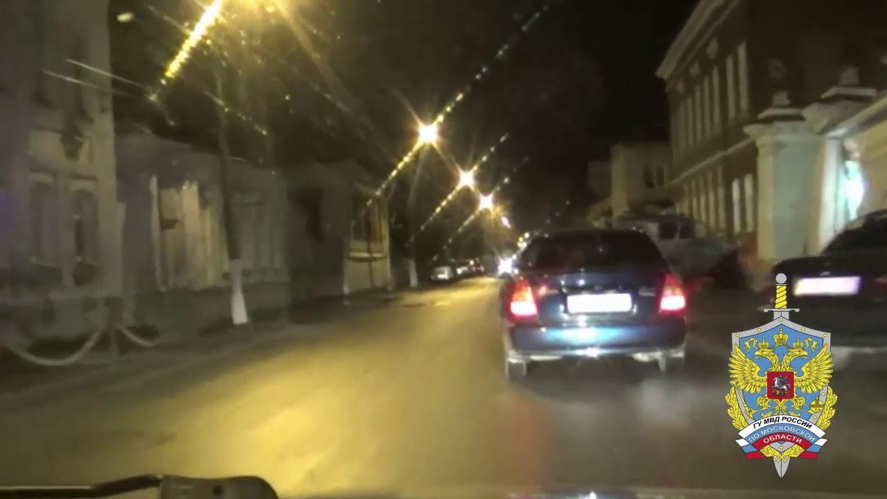 Погоня полиции за пьяным водителем в Коломне