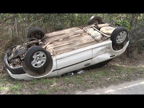 Homem sai ileso de capotamento na estrada Mury-Lumiar, em Nova Friburgo