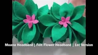 Moana Felt Headband - DIY - Crafting - MOANA Birthday Party Costume - $1.25