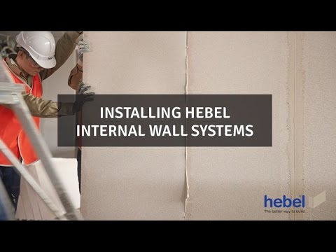 Installing Hebel Internal Wall Systems