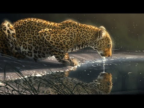 "Speed Paint - Photoshop ""Just A Sip"" Leopard"