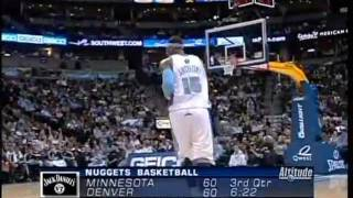 Carmelo Anthony 45pts vs. Timberwolves (12.10.2008)- 33pts in 3rd Qtr