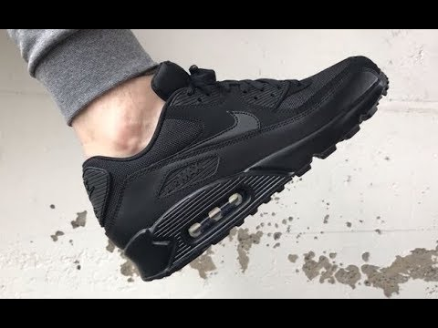 All Black Nike Air Max 90 ON FEET Sneakersenzo
