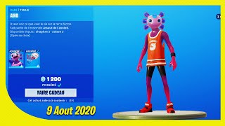 BOUTIQUE FORTNITE Du 9 Aout 2020 ! ITEM SHOP August 9 2020 !