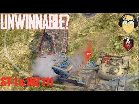UNWINNABLE ST-1 GAME & WZ 111 WORLD OF TANKS BLITZ