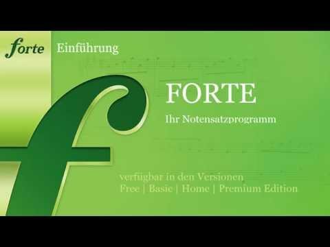 FORTE Notensatzsoftware - Einführung in den Notensatz