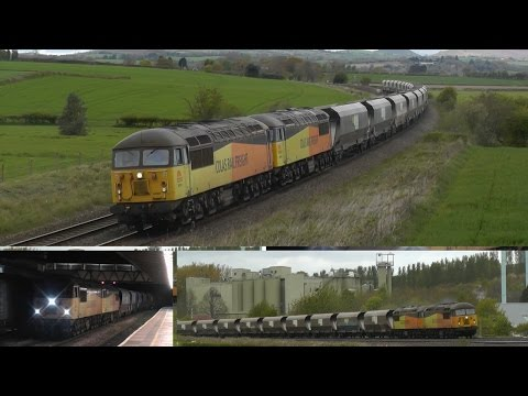 Colas Rail 56087 and 56078 work the first Neath to Leeds san…