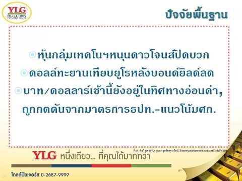 YLG บทวิเคราะห์ราคาทองคำประจำวัน 08-05-15