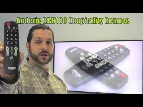 ANDERIC RRH100 Hospitality TV 1-Device Universal Remote Control