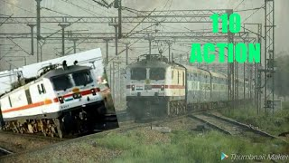TWO EXPREES TRAIN FOR ANOTHER SIDE AT ASOATI BY ARYAN SHARMA