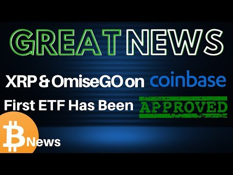 XRP & OmiseGo on CoinBase, Lightning Network, and ETF Updates! - Today's Crypto News
