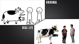 asdfmovie8 RealLife/Original Comparison