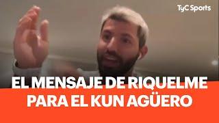 Durante la extensa entrevista con Sportia, Sergio el Kun Agüero contó el divertido mensaje que le envió Juan Román Riquelme el día que le marcó un gol al Liverpool.