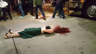 Crazy Drunk Girl Gets Knocked Out - Vancouver, B.C. 2016