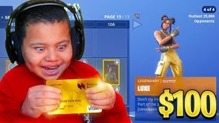 Kid Spends $100 On Season 8 *MAX* Battle Pass With Brother's Credit Card (Fortnite) | MindOfRez