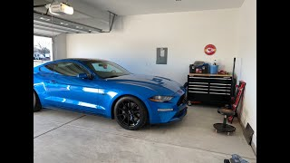 What's causing the clunking noise after installing lowering springs on my 2019 Mustang GT??
