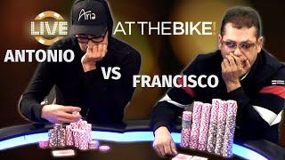 Antonio Esfandiari & Francisco Rivalry Continues With Huge Pot ♠ Live at the Bike!
