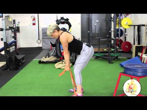 Bent Over Row with Resistance Bands