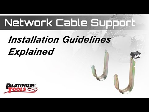 Platinum Tools Network Cable Support