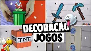 DIY DO LIXO AO LUXO DECORAÇÃO DE JOGOS | MINECRAFT E SUPER MARIO