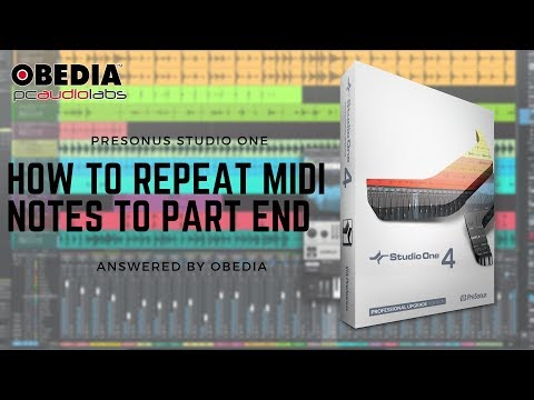 Get Started With Studio One: How to Repeat MIDI notes to part end