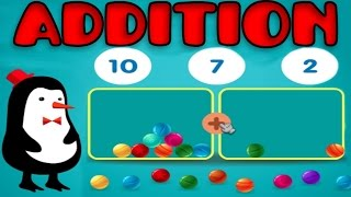 Addition With Manipulatives, Basic Math: Counting 1 - 15, Learning Game for Preschool Kids