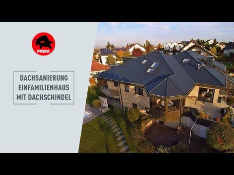 Dachsanierung eines Einfamilienhauses in Hailfingen mit der PREFA Dachschindel