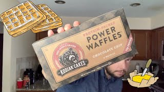 Kodiak Cake Frozen Waffles - Chocolate Chip - Review