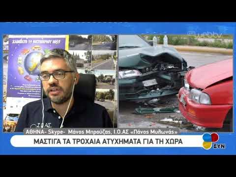 Μάστιγα τα τροχαία ατυχήματα για την χώρα- παρέμβαση του Μάνου Μπρούζα | 14/10/2019 | ΕΡΤ