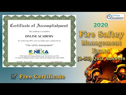 Fire Safety Free Online Courses 2020 | Quiz (1-50) All Ans Guide ...