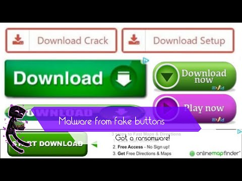 How much malware can you get from fake download buttons?