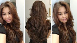 How To Cut Your Own Hair At Home In Long Layers   Easy Long Layers Haircut