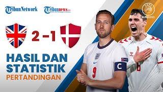 Euro 2020: Hasil & Statistik Pertandingan Inggris 2-1 Denmark