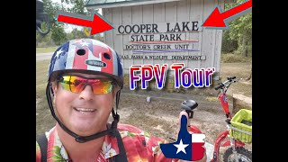 FPV Tour Drs Creek Unit Cooper Lake State Park - Texas State Park