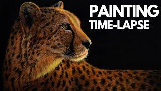 Painting Time-Lapse | ANIMAL ART| Acrylic Painting Cheetah