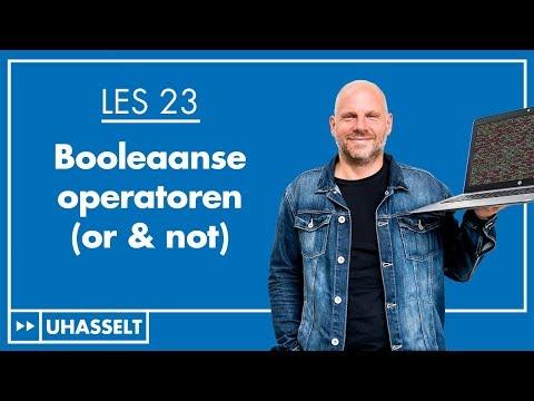 """De booleaanse operatoren """"or"""" en """"not"""""""