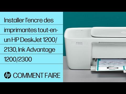 Installation de l'encre dans les imprimantes tout-en-un des gammes HP DeskJet 1200 et 2130, Ink Advantage 1200 et 2300