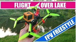 Flight over lake. Fpv freestyle. Drone: Armattan Mongoose (Tmotor F60 V III 1750/Matek 405STR)
