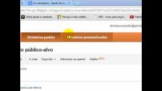Google Analytics - Relatórios Personalizados