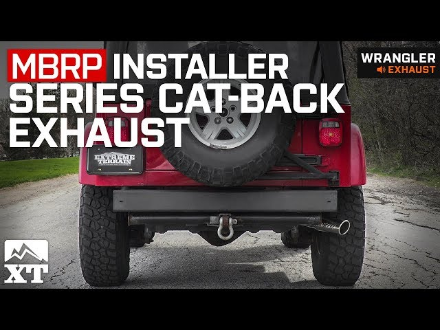 MBRP Installer Series Cat-Back Exhaust (00-06 Jeep Wrangler TJ, Excluding  Unlimited)