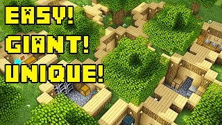 minecraft tutorial simple big easy survival house - TH-Clip