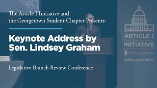 Click to play: Keynote Address by Sen. Lindsey Graham