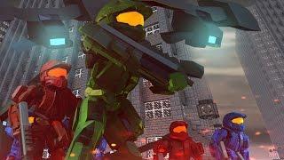Minecraft | Good vs Evil - HALO LAST RESORT BASE INVASION! (UNSC vs Covenant)