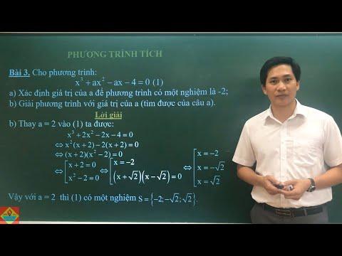 """Môn Toán lớp 8 """"Phương trình tích"""" thầy giáo Trần Quốc Huy, trường THCS Lê Quý Đôn"""