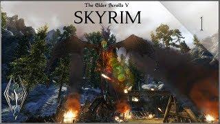 Skyrim SE #1 ⚔️LA ERA DEL DOVAHKIIN⚔️ ¡HUIDA DE HELGEN! Gameplay Español