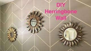 How To: DIY Chevron Herringbone Accent Wall Tutorial