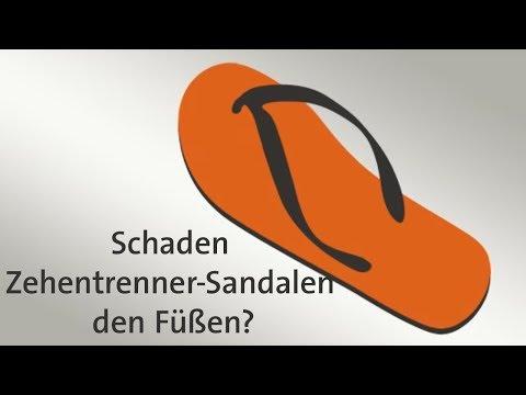 Schaden Zehentrenner-Sandalen den Füßen?