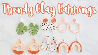 POLYMER CLAY EARRINGS | HOW TO MAKE CLAY EARRINGS | BEGINNER CLAY EARRING TUTORIAL