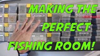 How To Make The Perfect Fishing Room - Man Cave - Bass Cave!  My Fishing Room Set Up!
